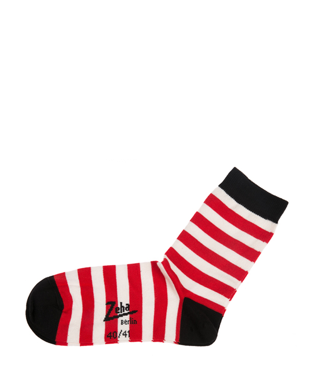 ZEHA BERLIN Accessoires Socks Unisex red / cream / black