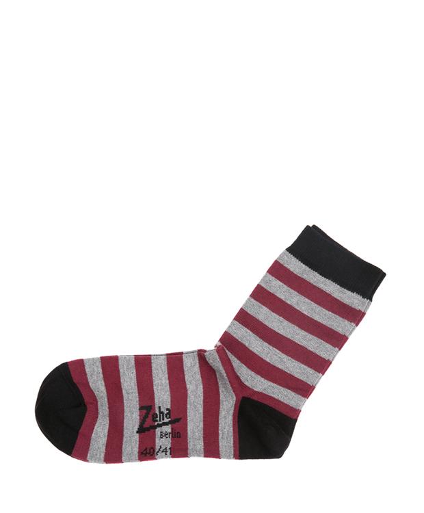 ZEHA BERLIN Accessoires Zeha Socken Unisex bordeaux / grau / schwarz