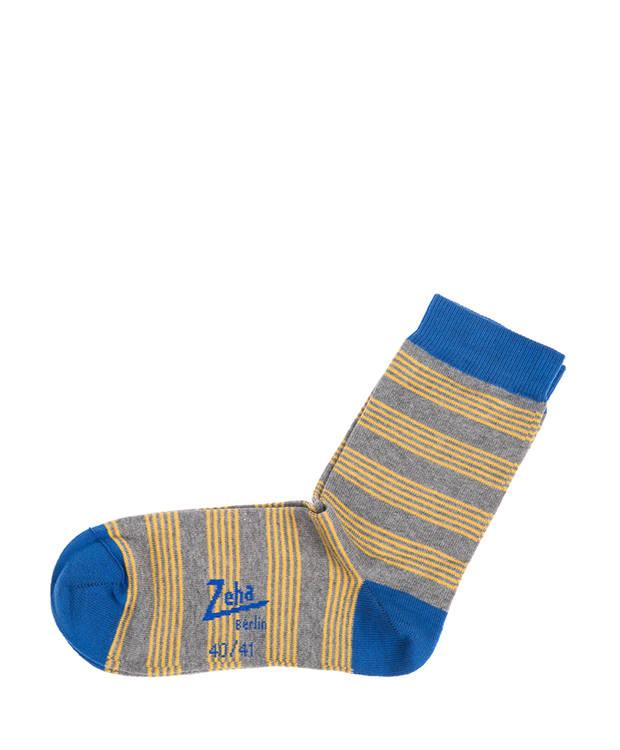 ZEHA BERLIN Accessoires Socks Unisex grey / yellow / blue