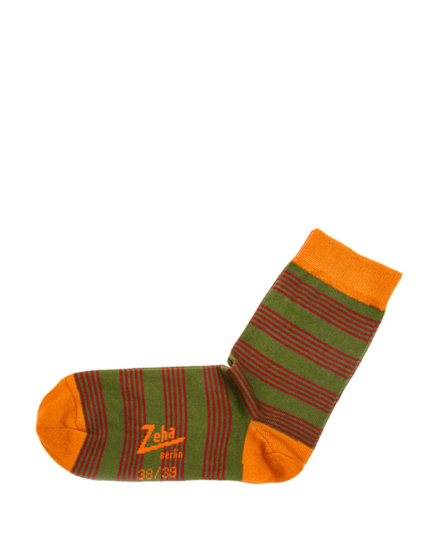 ZEHA BERLIN Accessoires Socks Unisex green / bordeaux / orange