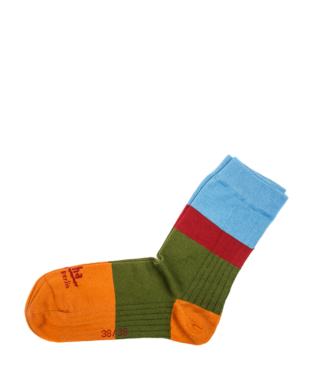 ZEHA BERLIN Accessoires Socks Unisex orange / green / bordeaux / light blue
