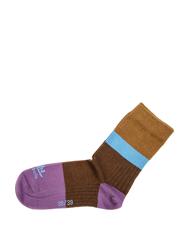 ZEHA BERLIN Accessoires Socks Unisex purple / red brown / light blue / cognac