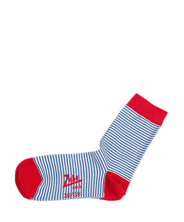 ZEHA BERLIN Accessoires Socks Unisex blue / cream / red