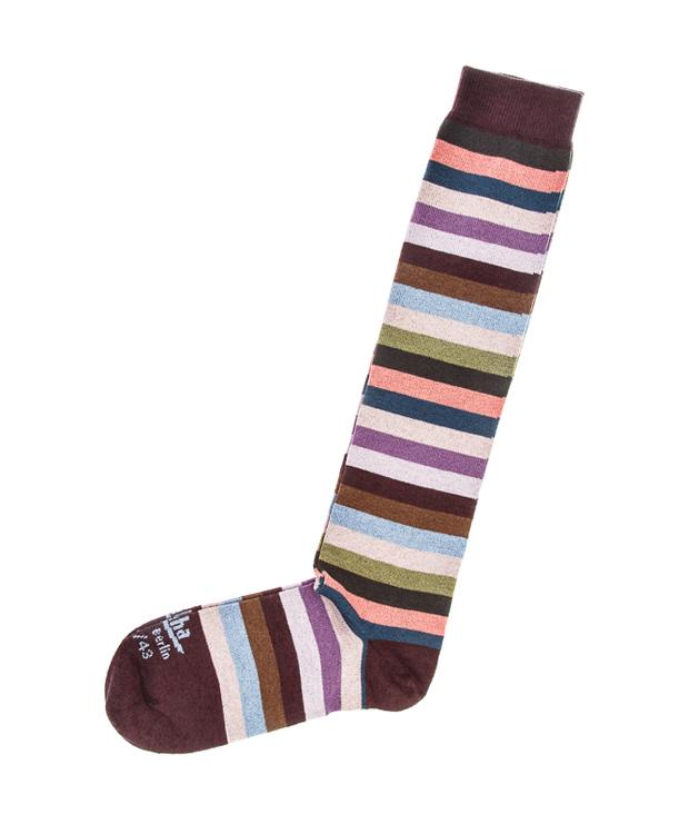 ZEHA BERLIN Accessories zeha socks Unisex multicolour /  bordeaux