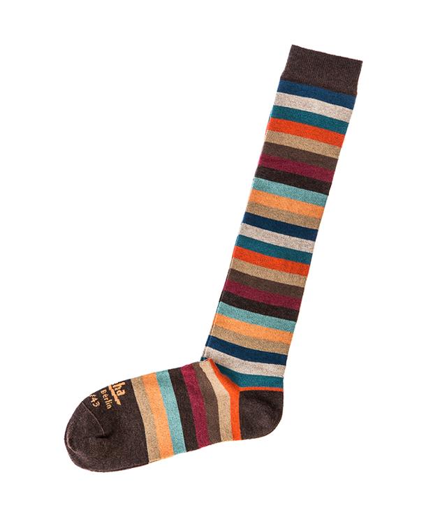 ZEHA BERLIN Accessories zeha socks Unisex light brown / camel / melange / grey-blue