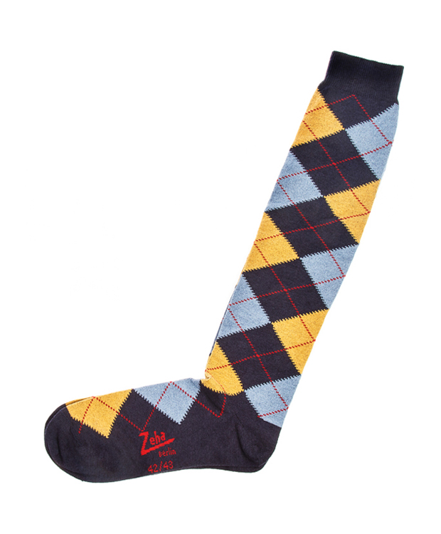 ZEHA BERLIN Accessories zeha socks Unisex light blue / dark blue / yellow / red