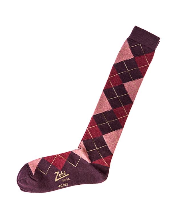 ZEHA BERLIN Accessories zeha socks Unisex dark violet / rust / pink / camel