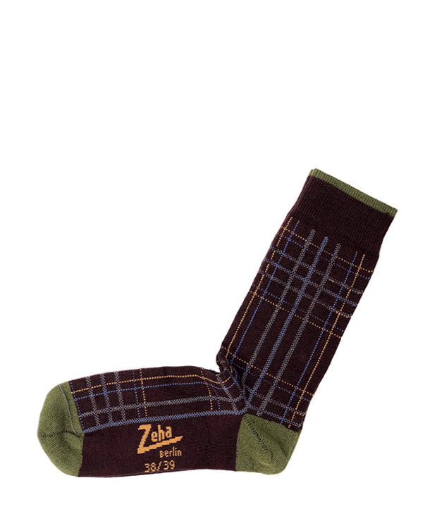 ZEHA BERLIN Accessories Socks Unisex brown / light green / yellow / light blue