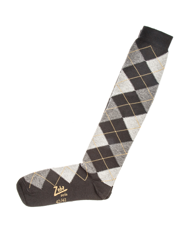 ZEHA BERLIN Accessoires Socks Unisex yellow / dark grey / grey / light grey