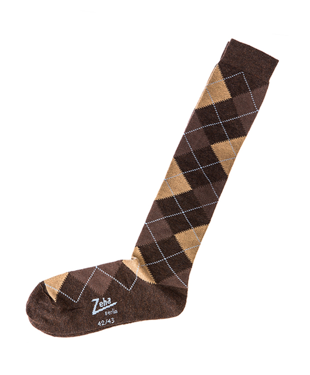 ZEHA BERLIN Accessoires Socks Unisex light blue / melange brown / camel / dark brown
