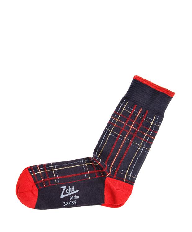 ZEHA BERLIN Accessoires Socks Unisex dark blue / yellow / light blue / red