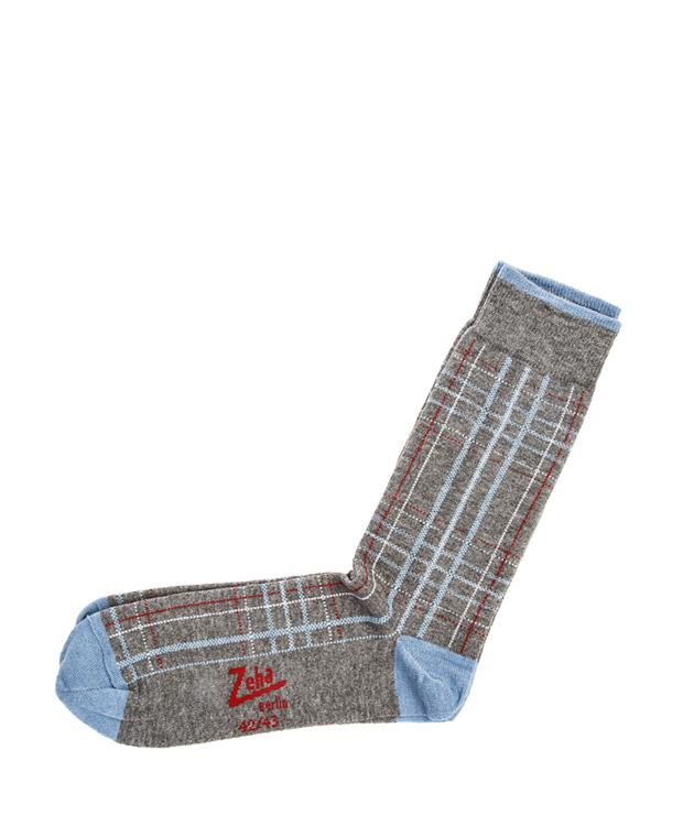ZEHA BERLIN Accessoires Socks Unisex grey / red / light grey / light blue