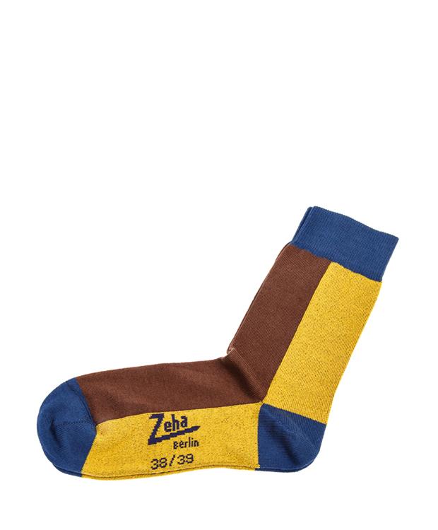 ZEHA BERLIN Accessoires Socks Unisex yellow / brown / blue
