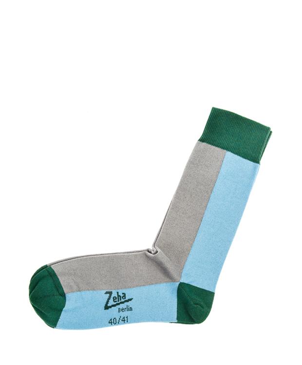 ZEHA BERLIN Accessories zeha socks Unisex light blue / grey / green