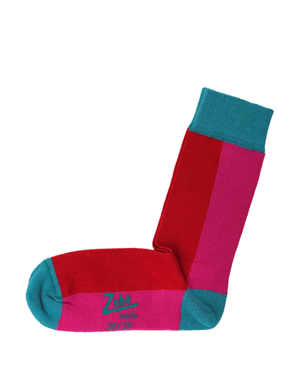 ZEHA BERLIN Accessoires Socks Unisex pink / red / water blue