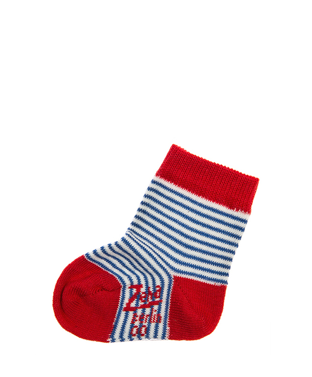 ZEHA BERLIN Accessoires Socks Child blue / cream / red