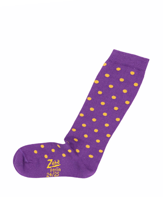ZEHA BERLIN Accessories Baby- & children socks child viola / gold-yellow