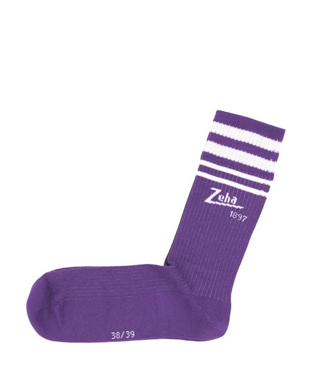 ZEHA BERLIN Accessoires Zeha Socken -  Special Edition 1897 Unisex viola / weiß