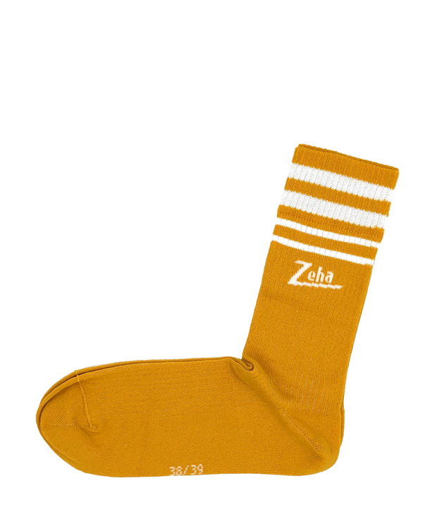 ZEHA BERLIN Accessoires Socks Unisex yellow / cream