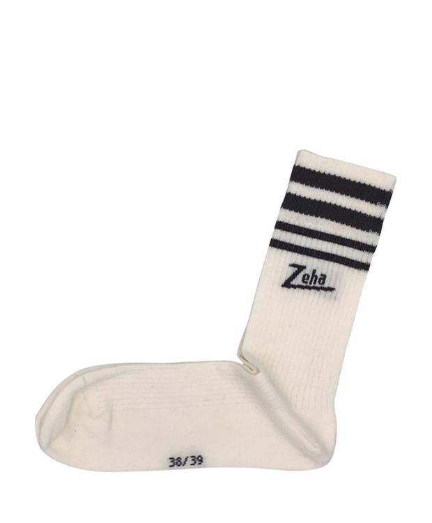 ZEHA BERLIN Accessoires Zeha Socken Unisex weiß / grau