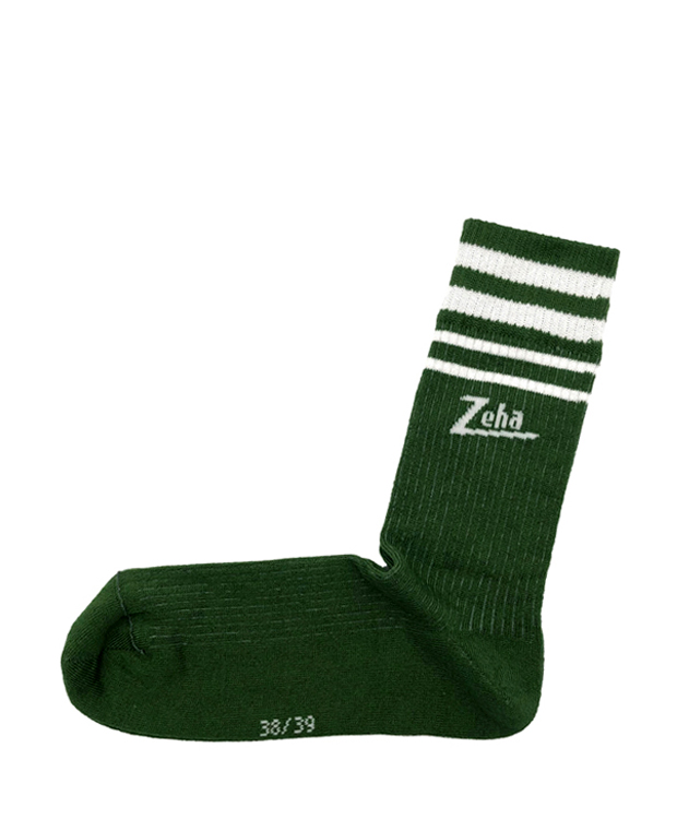 ZEHA BERLIN Accessories zeha socks Unisex green / cream