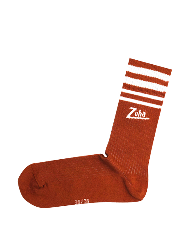 ZEHA BERLIN Accessories Zeha socks Unisex rust / cream