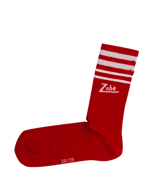 ZEHA BERLIN Accessories zeha socks Unisex red / cream