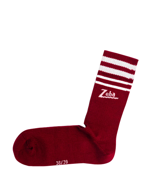 ZEHA BERLIN Accessories Zeha socks Unisex ruby red / cream