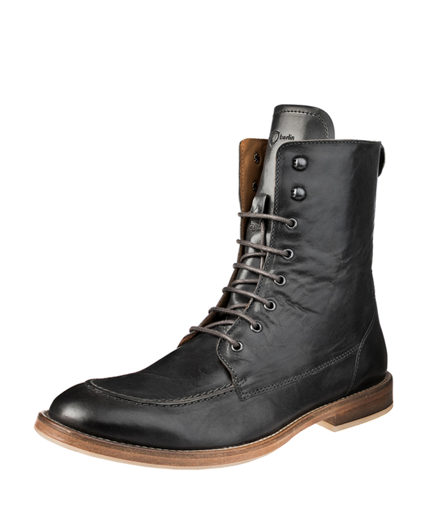 ZEHA BERLIN Urban Classics Lace-up ankle boot calf leather men grau