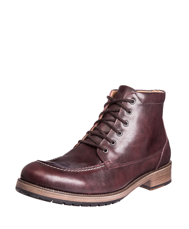 ZEHA BERLIN Urban Classics Men Lace-up ankle boot cow hide leather Men bordeaux