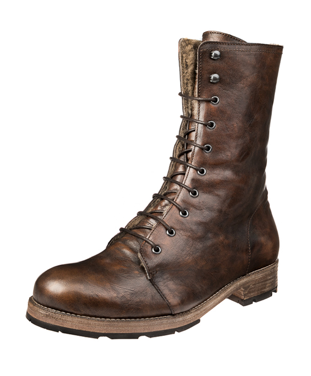 ZEHA BERLIN Urban Classics Lace-up boot calf leather men cognac