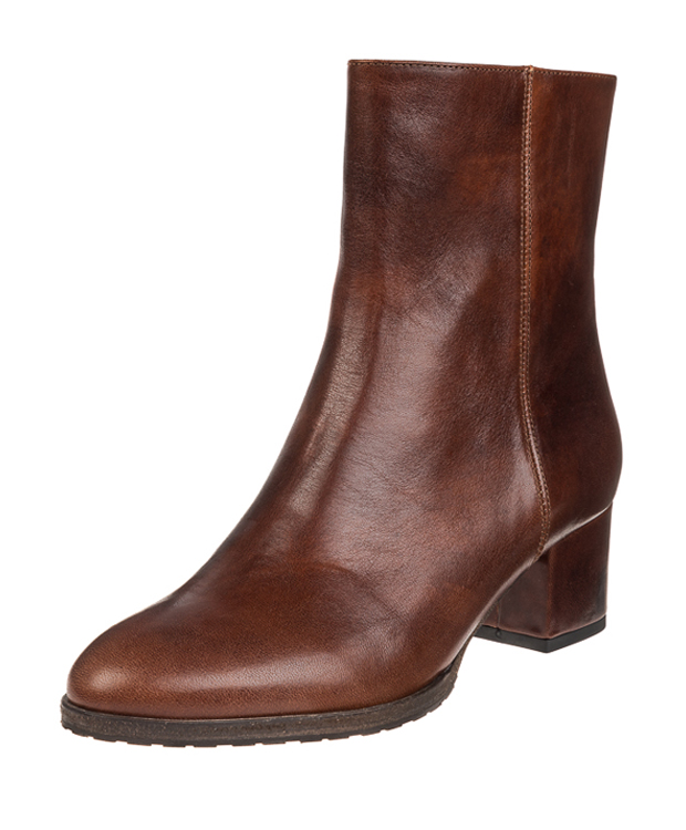 ZEHA BERLIN Urban Classics Ankle boot cow leather, flank women cognac brown