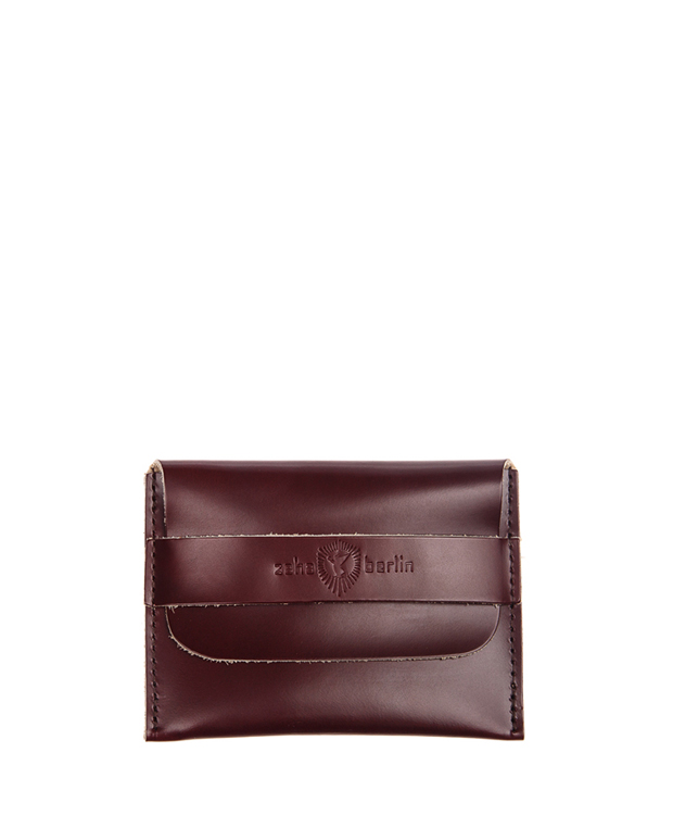 ZEHA BERLIN Accessoires Wallets cow hide leather Unisex burgundy red