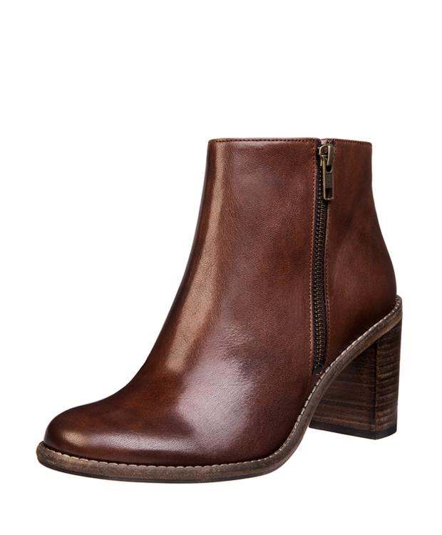 ZEHA BERLIN Ankle boot Sleek leather, flank Unisex Versavia Lux castagno, brown