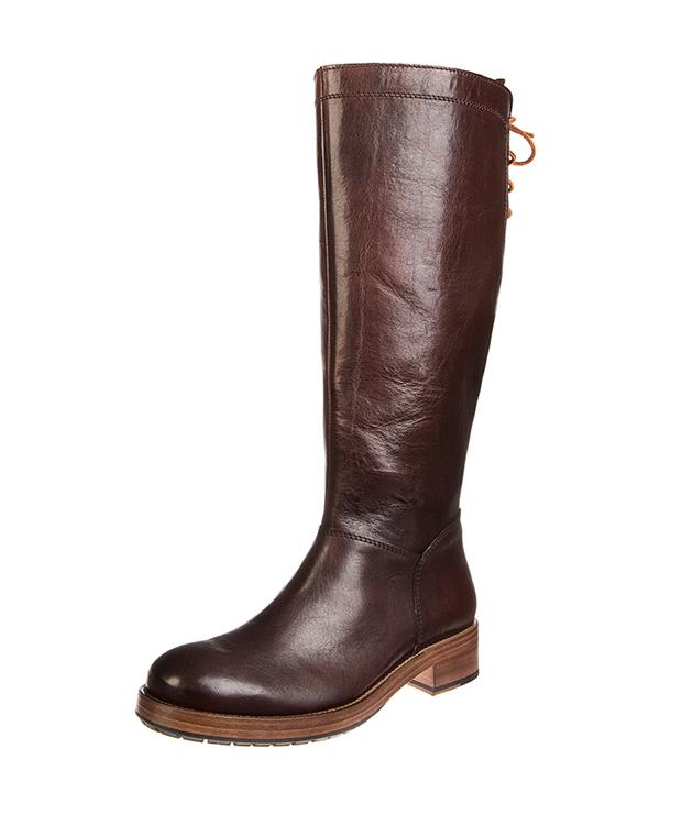 ZEHA BERLIN Boot Sleek leather, flank Unisex Dark brown