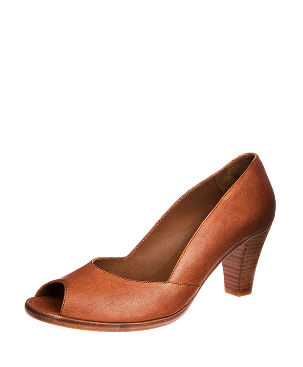 ZEHA BERLIN Urban Classics Women Pumps goat leather women cognac
