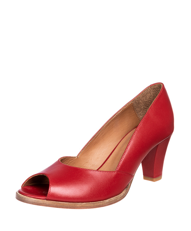 ZEHA BERLIN Urban Classics Pumps calf leather women red