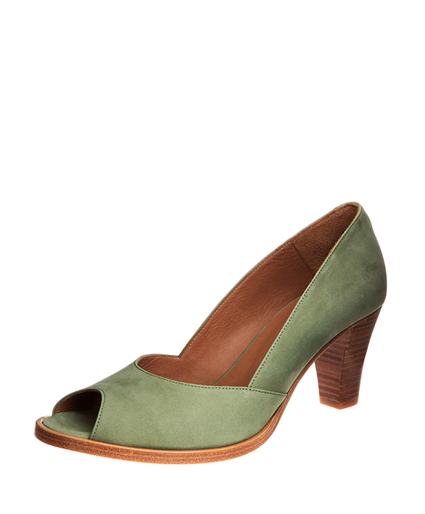 ZEHA BERLIN Pumps calf leather women olive green