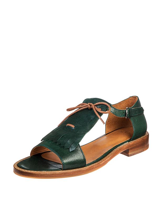 ZEHA BERLIN Urban Classics Women Sandals goat leather women petrol-green