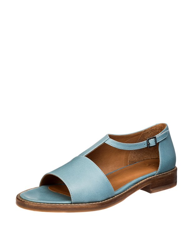 ZEHA BERLIN Urban Classics Women Sandals calf leather women light blue