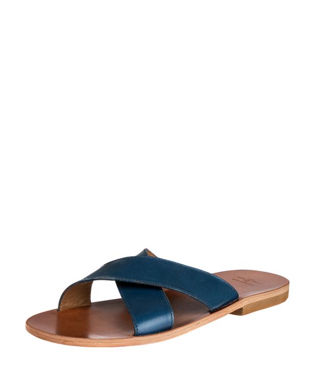 ZEHA BERLIN Urban Classics Sandals cow hide leather Men blue
