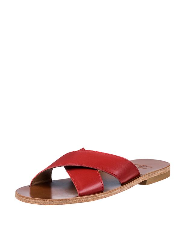 ZEHA BERLIN Urban Classics Sandals calf leather women red