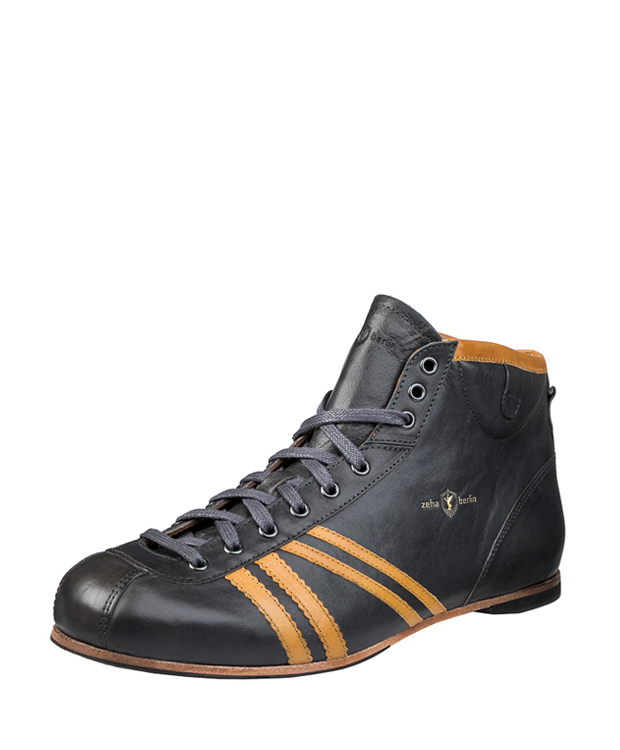 ZEHA BERLIN Carl Häßner Derby calf leather Unisex grey / cognac
