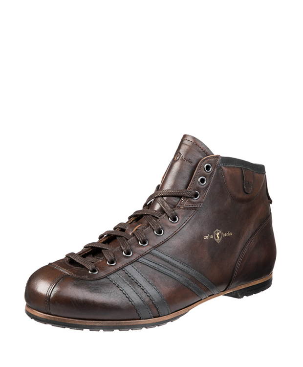 ZEHA BERLIN Carl Häßner Derby calf leather Unisex cognac / grey