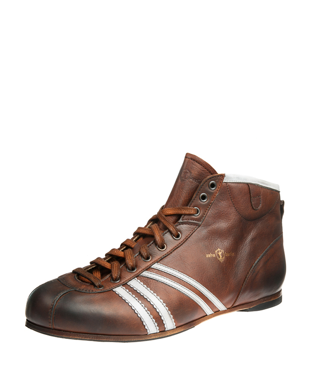 ZEHA BERLIN Carl Häßner Derby calf leather child cognac / cream