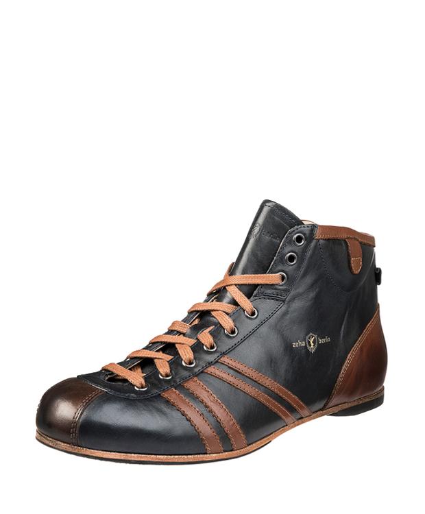 ZEHA BERLIN Carl Häßner Derby calf leather Unisex blue / cognac / brown