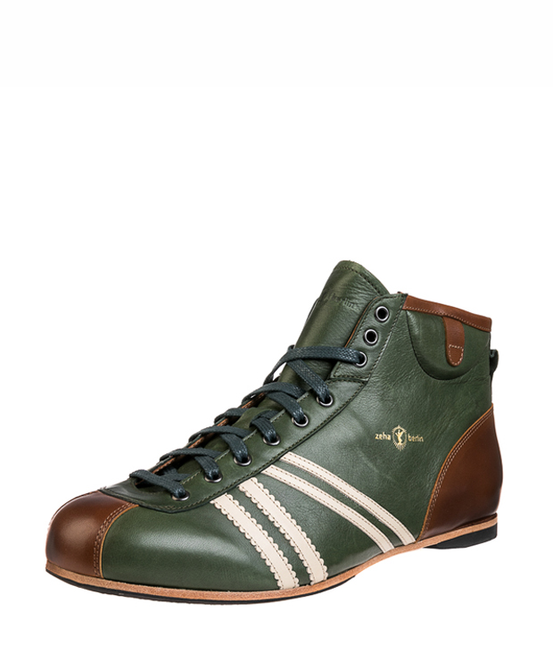 ZEHA BERLIN Carl Häßner Derby claf leather Unisex dark green / cream / cognac