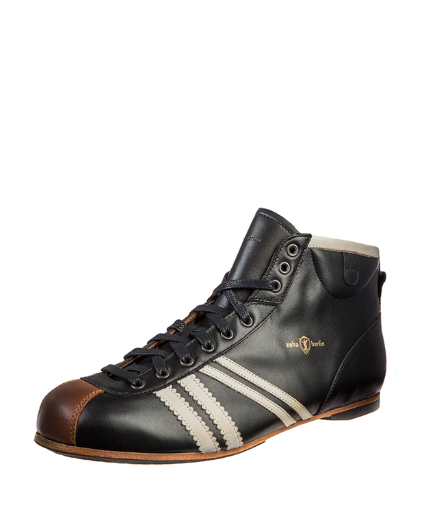 ZEHA BERLIN Carl Häßner Derby calf leather Unisex black / cream / cognac