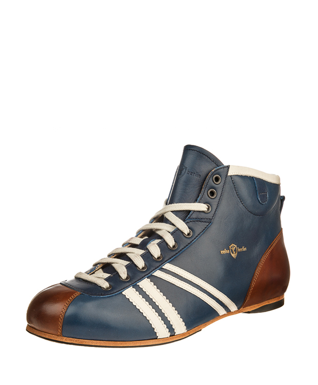 ZEHA BERLIN Carl Häßner Derby calf leather Unisex middle blue / cream / cognac