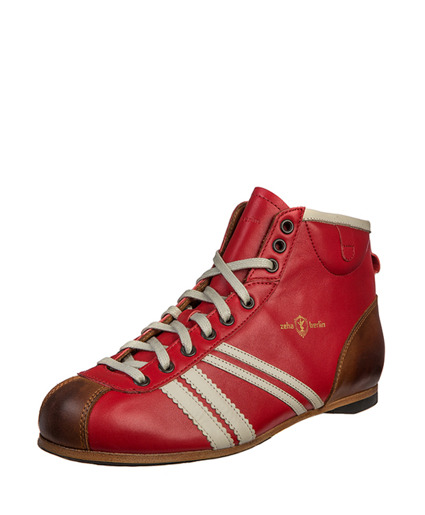 ZEHA BERLIN Carl Häßner Derby calf leather Unisex red / cream / cognac